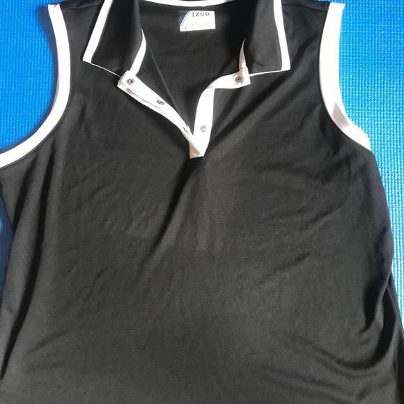 Izod ladies golf Top size XL black/white